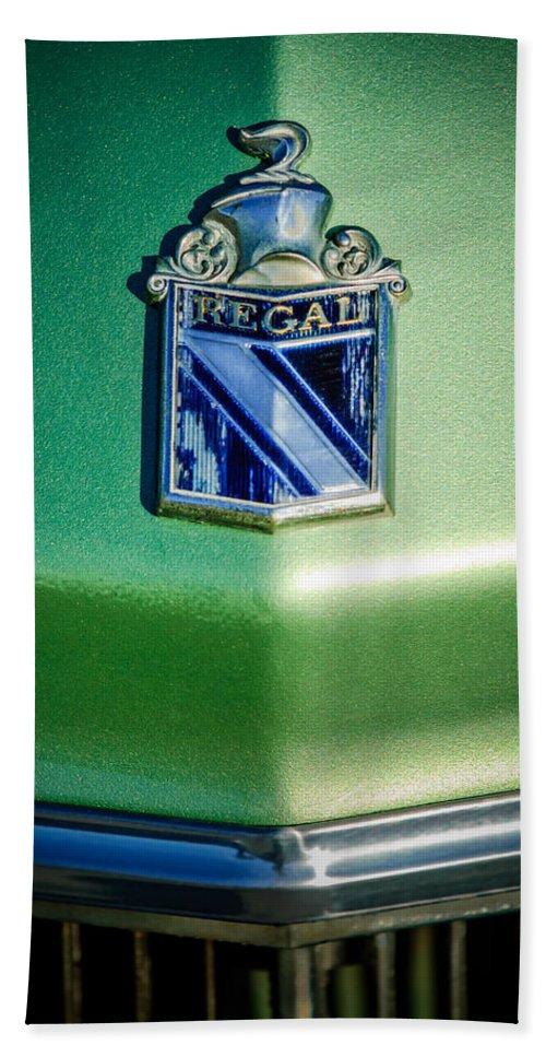 1973 Buick Regal Beach Towel featuring the photograph 1973 Buick Regal Hood Ornament by Jill Reger