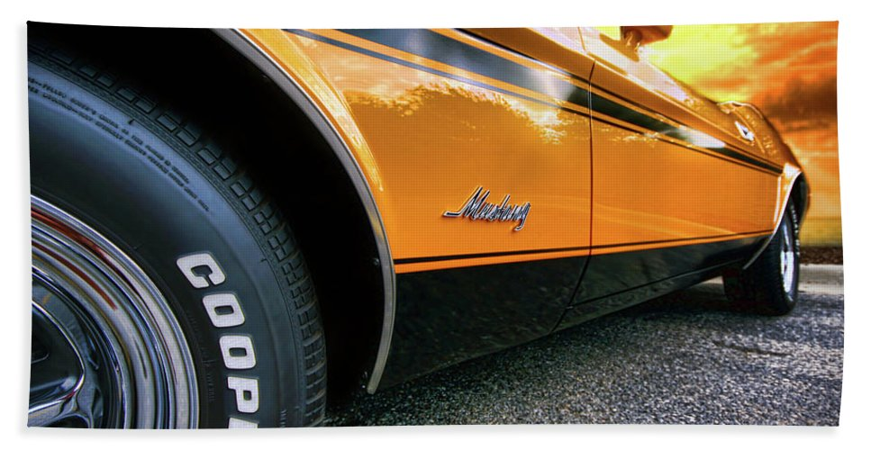 1970 Beach Towel featuring the photograph 1973 Ford Mustang by Gordon Dean II