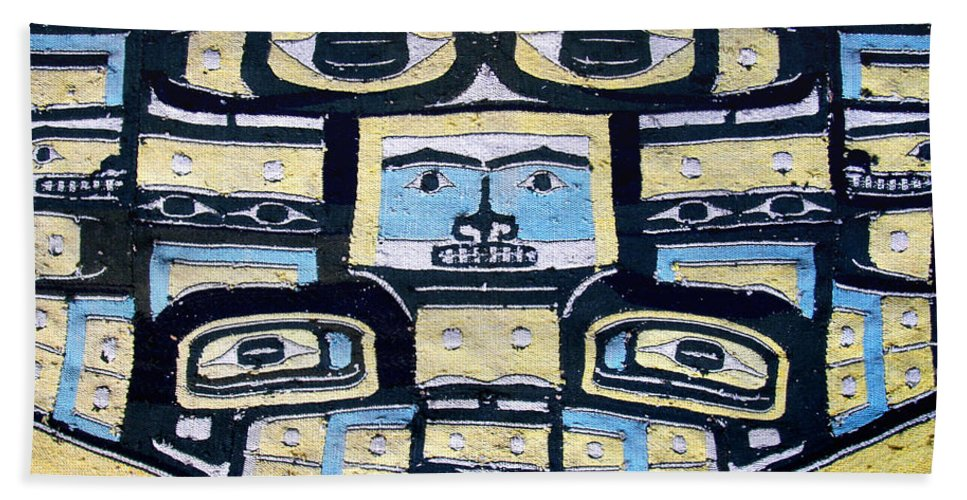 Native American Beach Towel featuring the photograph 19th Century Chilkat Blanket by Joe Kozlowski