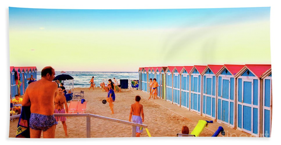 Beach Beach Towel featuring the photograph A Day At The Beach by Madeline Ellis