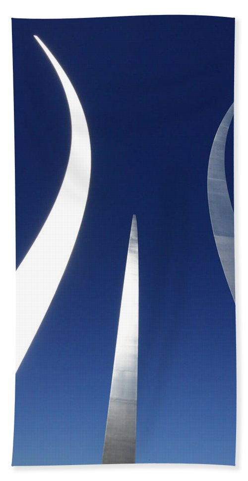 Air Force Memorial Beach Towel featuring the photograph Air Force Monument - Arlington by Paul W Faust - Impressions of Light