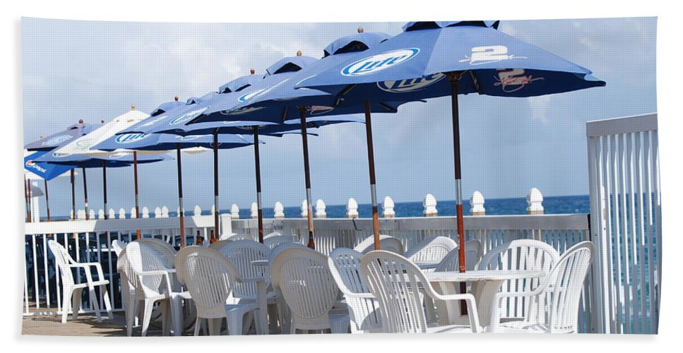 Chairs Beach Towel featuring the photograph Beer Unbrellas by Rob Hans