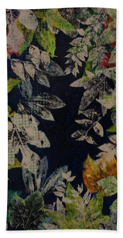 Abstract Beach Towel featuring the painting Bp12 by Betty OHare