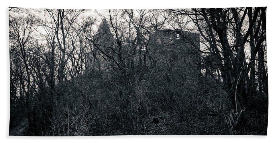 Castle Beach Towel featuring the photograph Castle Frankenstein by Jason Steele