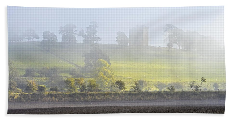 Sony Beach Towel featuring the photograph Clackmannan Tower by Jeremy Lavender Photography