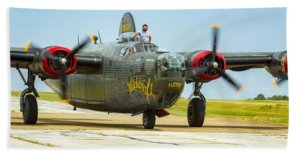 Aircraft Beach Towel featuring the photograph Consolidated B-24j Liberator by Jack R Perry