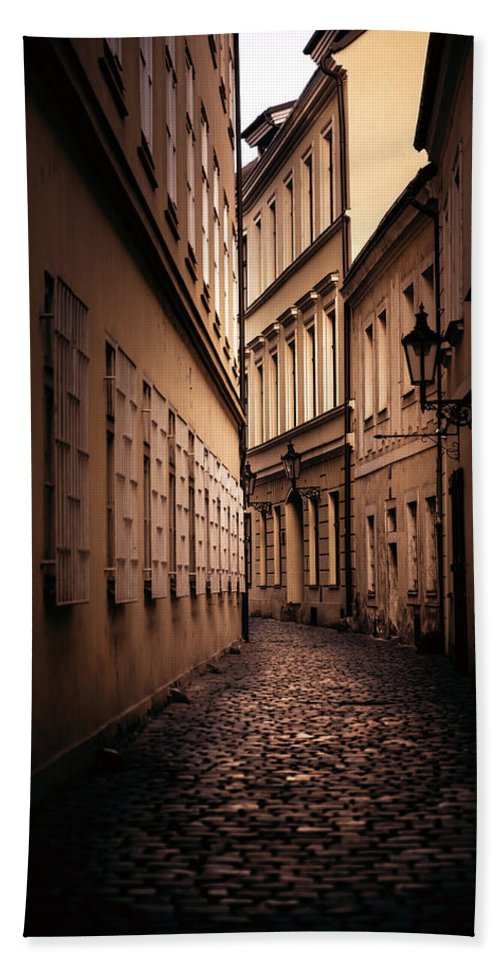 City Beach Towel featuring the photograph Dark Street by Svetlana Sewell