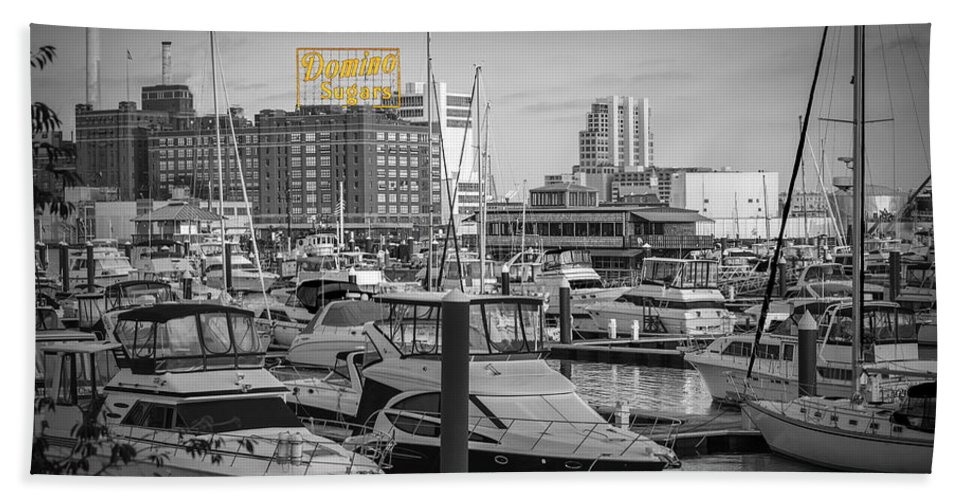 2d Beach Towel featuring the photograph Domino Sugars by Brian Wallace