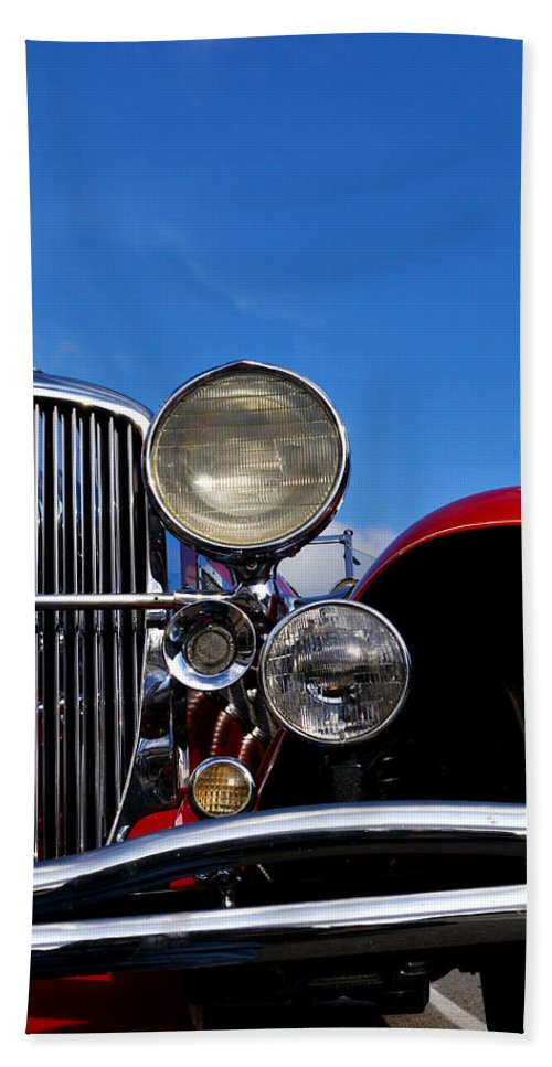 Vintage Beach Towel featuring the photograph Duesenberg by Tim Nyberg