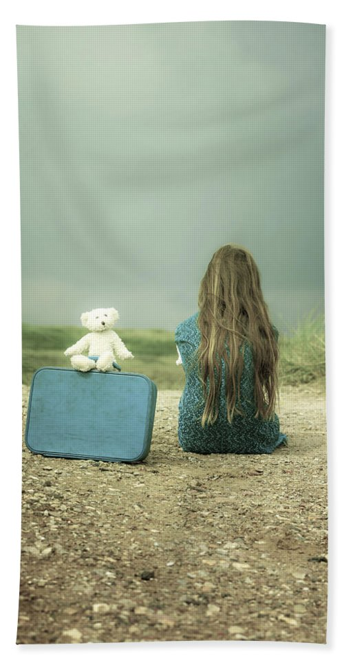 Girl Beach Towel featuring the photograph Girl In The Dunes by Joana Kruse