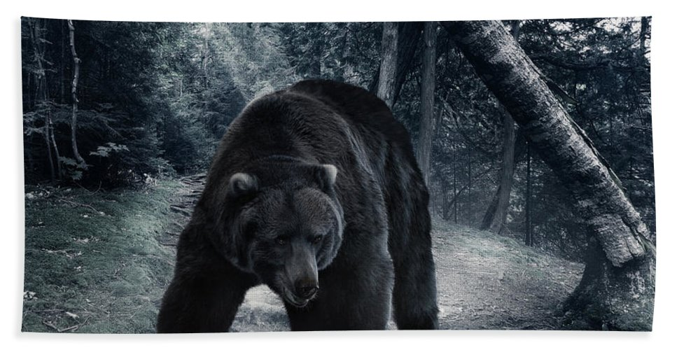 Grizzly Bear Beach Towel featuring the photograph Grizzly Bear by Svetlana Foote