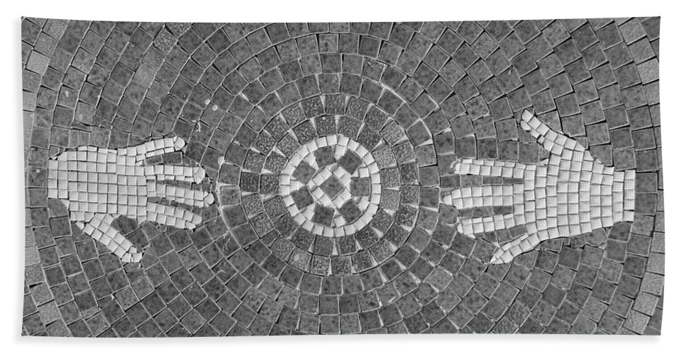Black And White Beach Towel featuring the photograph Hans Mosaic by Rob Hans