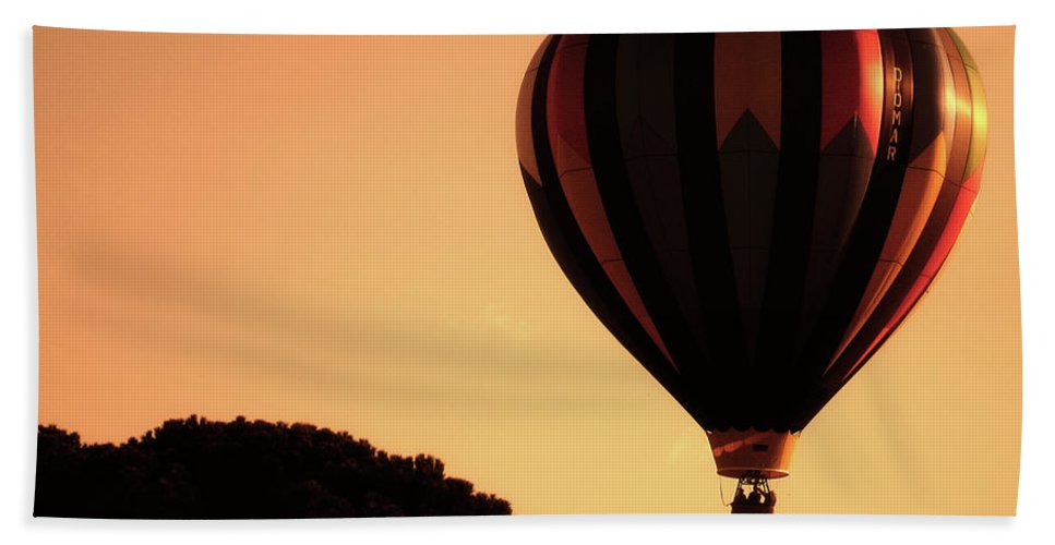 Balloons Beach Towel featuring the photograph Hot Air Balloon by Ilaria Andreucci