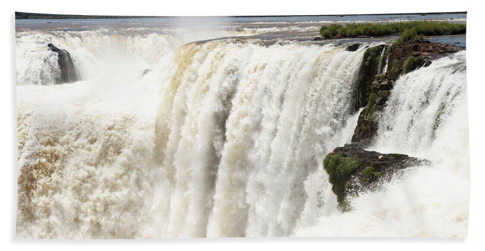 Argentine Beach Towel featuring the photograph Iguazu Falls by Silvia Bruno