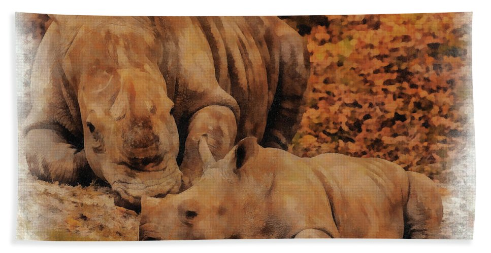 Florida Beach Towel featuring the photograph Jazi And Mom by Mark Fuge