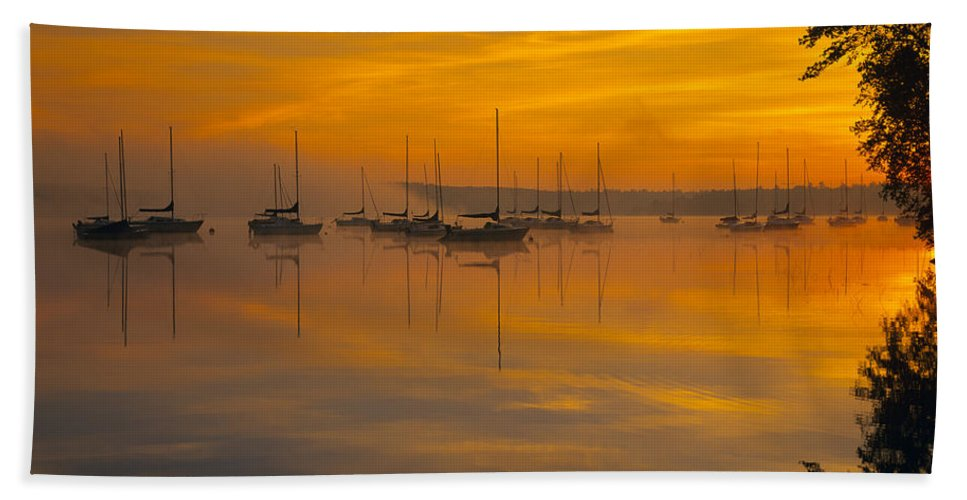 Lake Massabesic Beach Towel featuring the photograph Lake Massabesic - Auburn New Hampshire Usa by Erin Paul Donovan