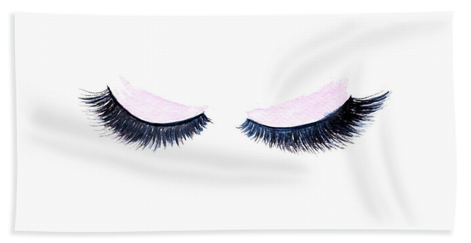Lashes Beach Towel featuring the painting Lashes by Sweeping Girl