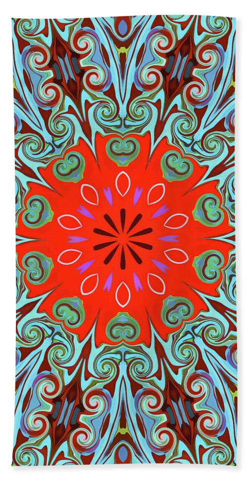 Mandala Art Beach Towel featuring the painting Life by Jeelan Clark