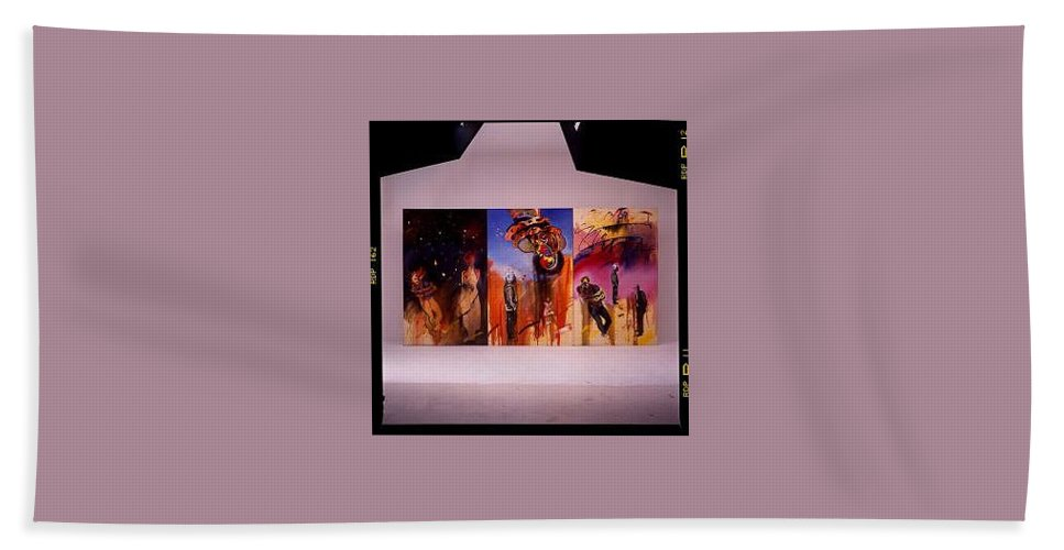 Canvas Beach Towel featuring the painting Love Hurts by Charles Stuart