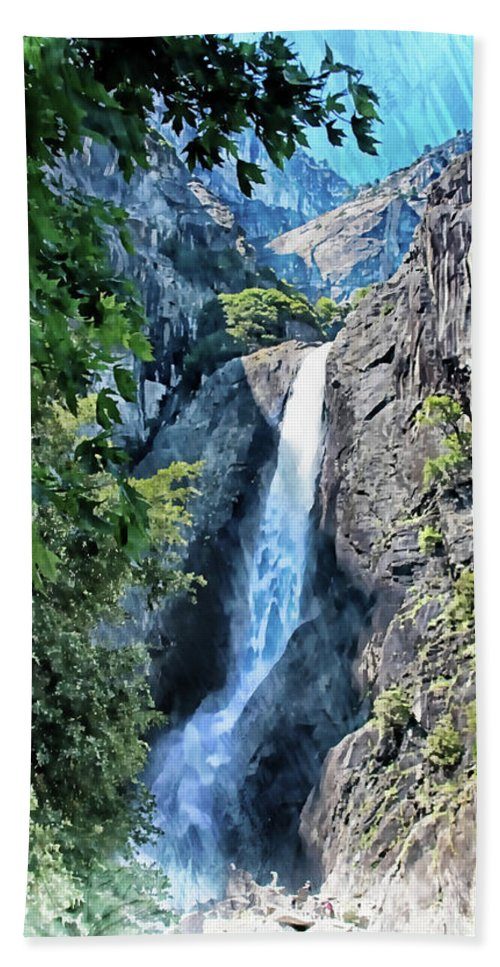 Yosemite Beach Towel featuring the photograph Lower Yosemite Falls by Margie Wildblood