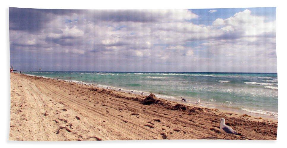 Beaches Beach Sheet featuring the photograph Miami Beach by Amanda Barcon