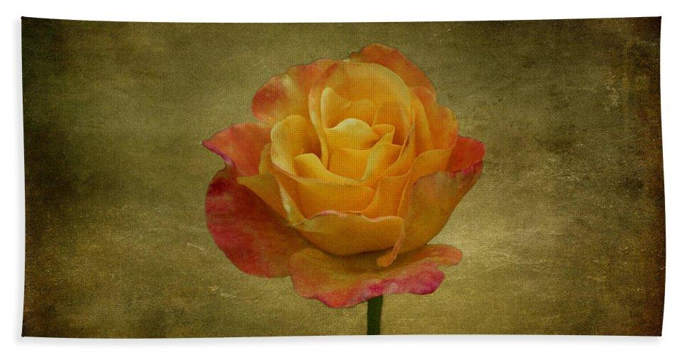 Flower Beach Towel featuring the photograph Orange Rose by Sandy Keeton