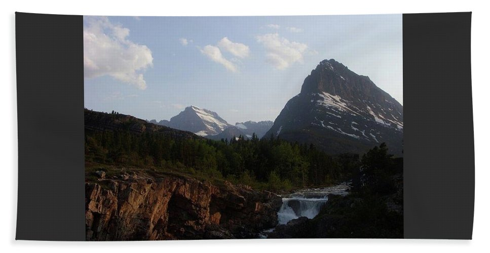 Landscape Beach Towel featuring the photograph 2 Peaks 1 Fall by Brennan Dilts