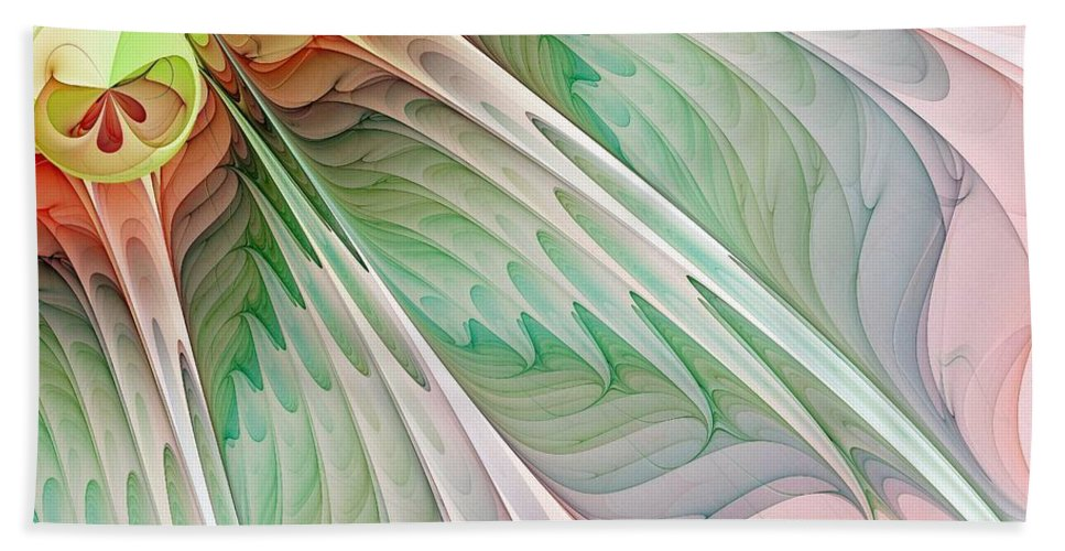 Digital Art Beach Towel featuring the digital art Petals by Amanda Moore