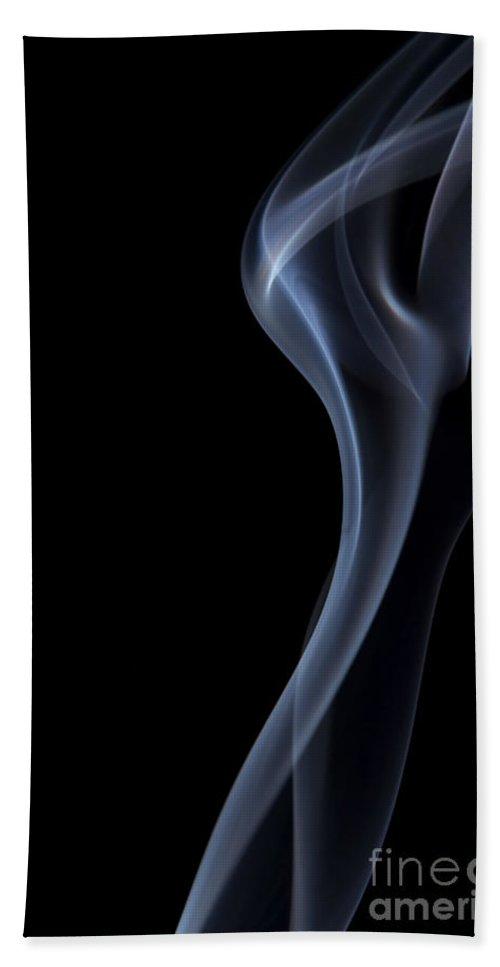 Smoke Beach Towel featuring the photograph Rising Smoke by Michal Boubin