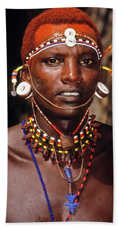 Africa Beach Towel featuring the photograph Samburu Warrior by Michele Burgess