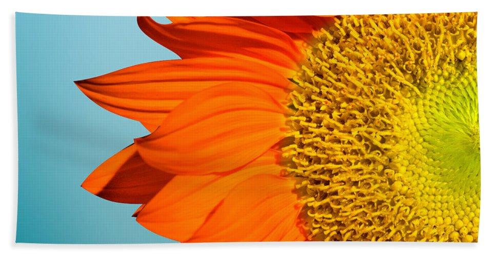 Sunflowers Beach Towel featuring the photograph Sunflowers by Mark Ashkenazi