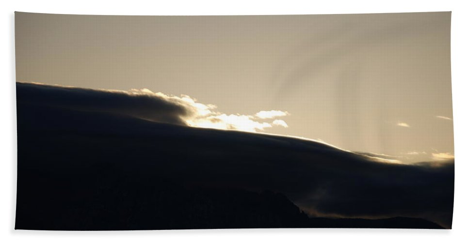 Sunrise Beach Towel featuring the photograph Sunrise Over The Sandias by Rob Hans