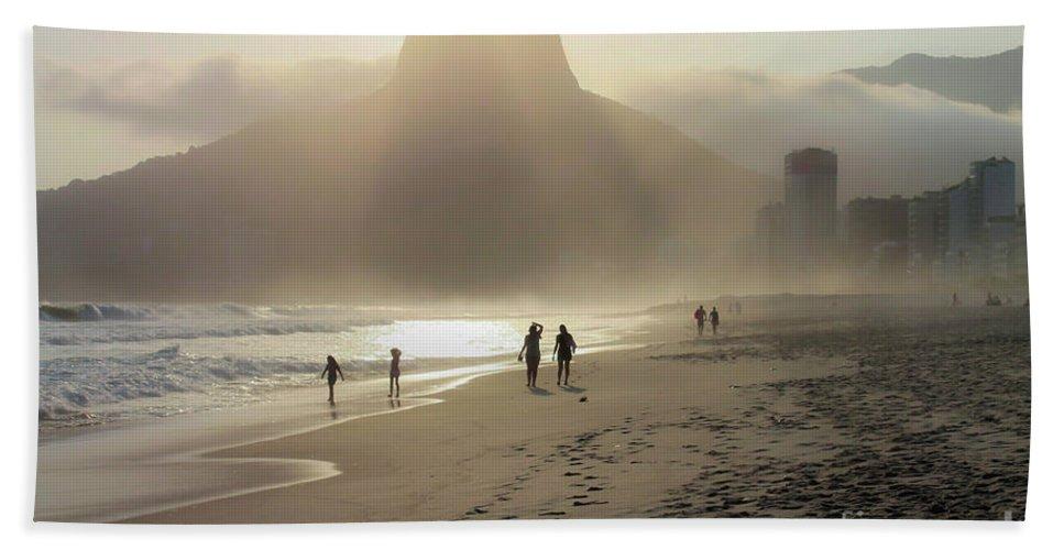 Rio De Janeiro Beach Towel featuring the photograph Sunset In Rio De Janeiro by Mao Lopez