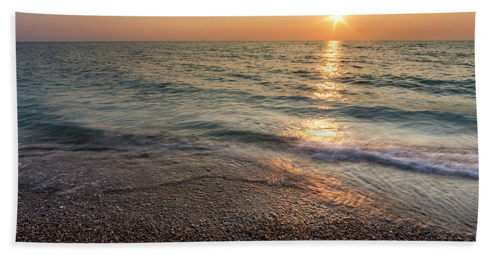 Pierport Beach Towel featuring the photograph The Beach At Pierport by Twenty Two North Photography