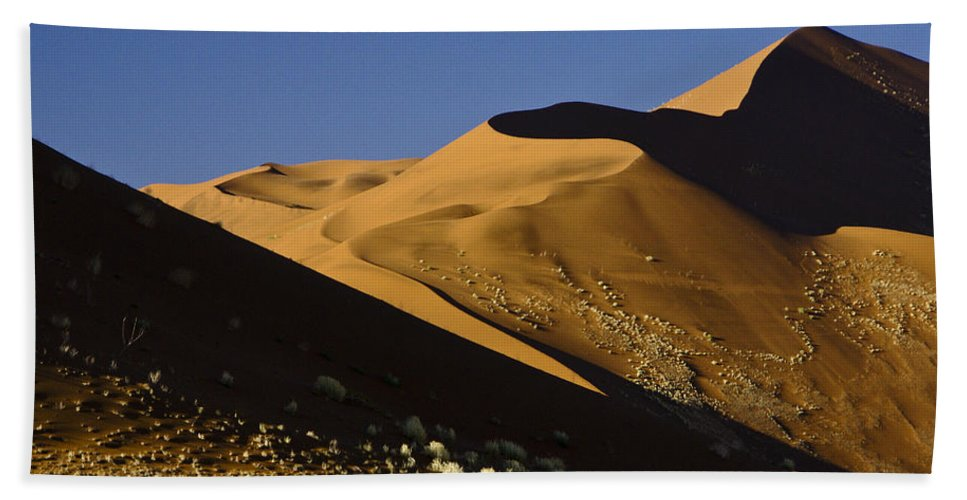 Africa Beach Towel featuring the photograph The Dunes Of Sossusvlei by Michele Burgess