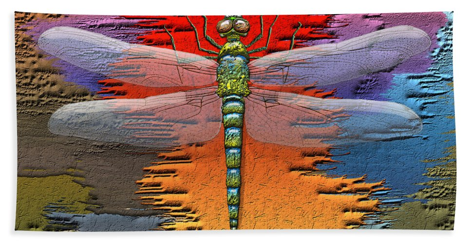 Beasts Beach Towel featuring the photograph The Legend Of Emperor Dragonfly by Serge Averbukh