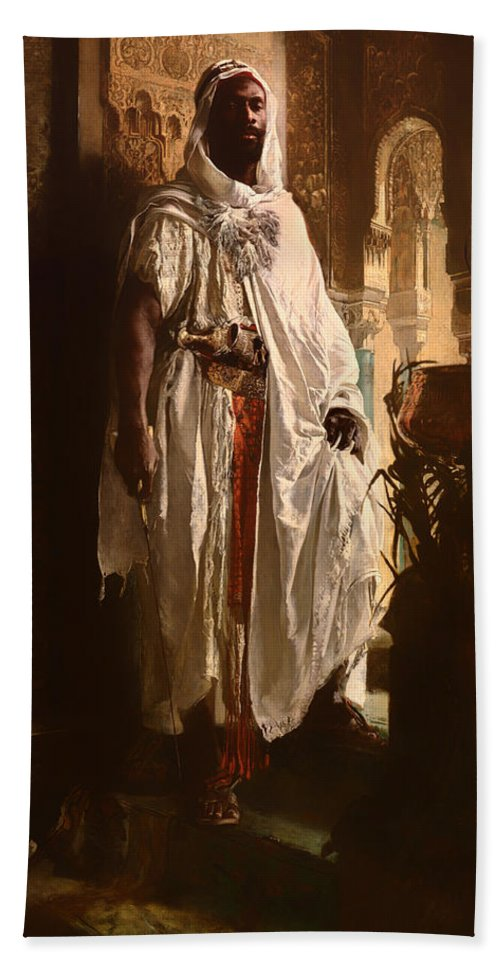 Painting Beach Towel featuring the painting The Moorish Chief by Mountain Dreams