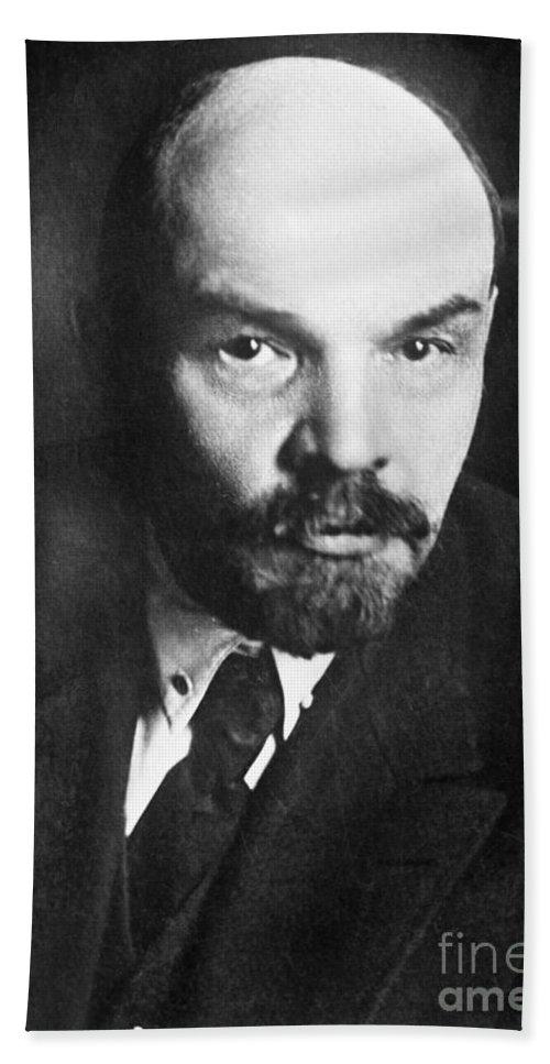 1919 Beach Towel featuring the photograph Vladimir Lenin (1870-1924) by Granger