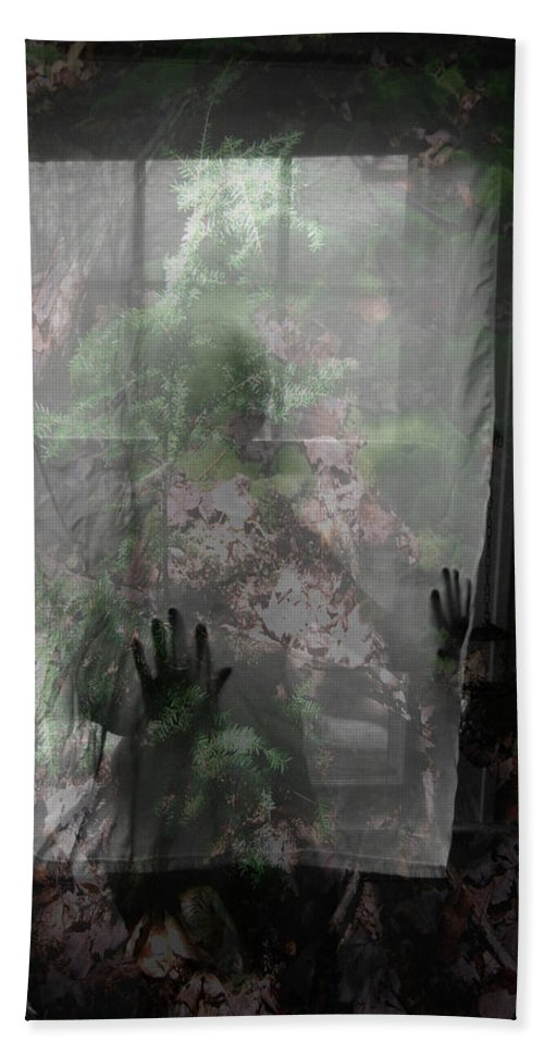 Nudes Beach Towel featuring the photograph Window Wonder by Trish Hale