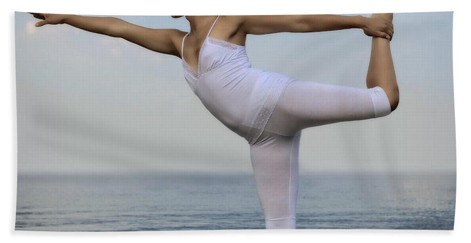 Female Beach Towel featuring the photograph Yoga 2 by Joana Kruse