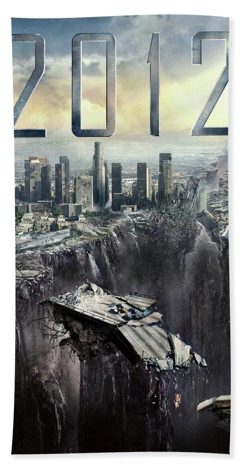2012 2009 Beach Towel featuring the digital art 2012 2009 by Geek N Rock