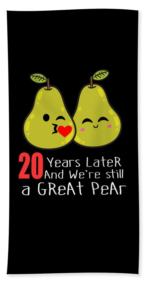 20th Wedding Anniversary Funny Pear Couple Gift Beach Sheet For Sale By Carlos Ocon