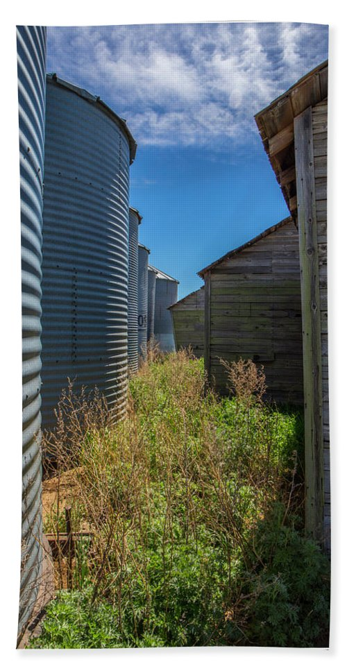 Alley Beach Towel featuring the photograph Back Alley On The Prairies by J and j Imagery