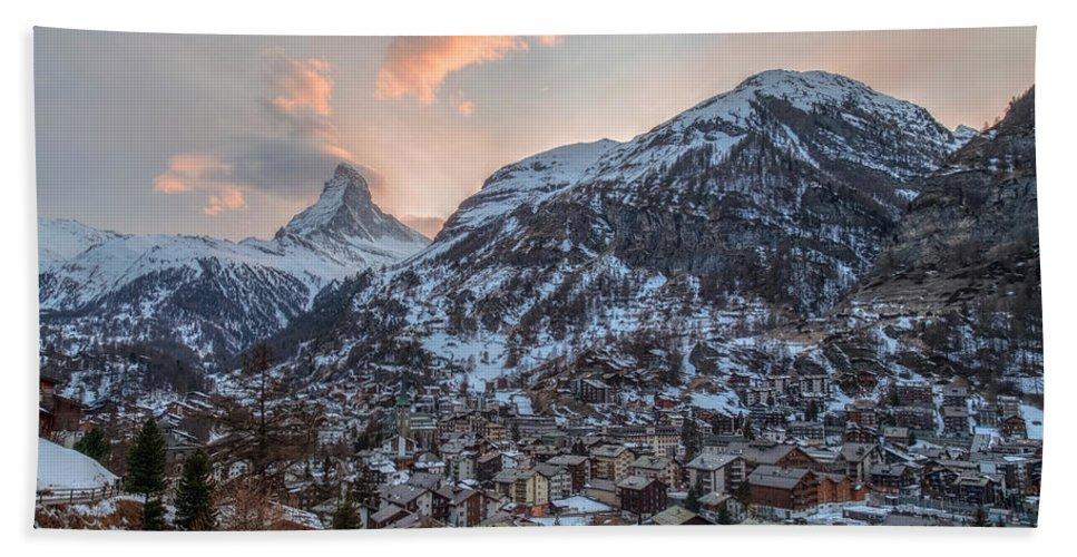Matterhorn Beach Towel featuring the photograph Zermatt - Switzerland by Joana Kruse