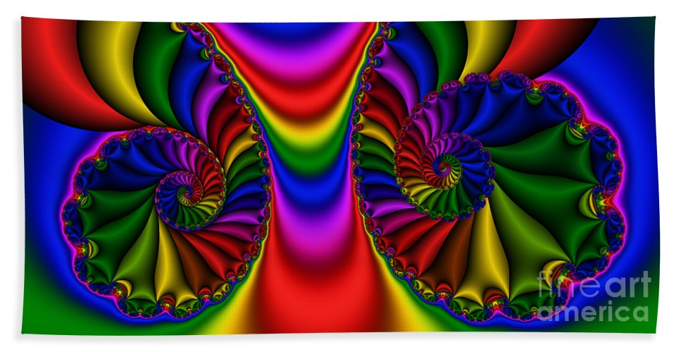 Abstract Beach Towel featuring the digital art 2x1 Abstract 440 by Rolf Bertram