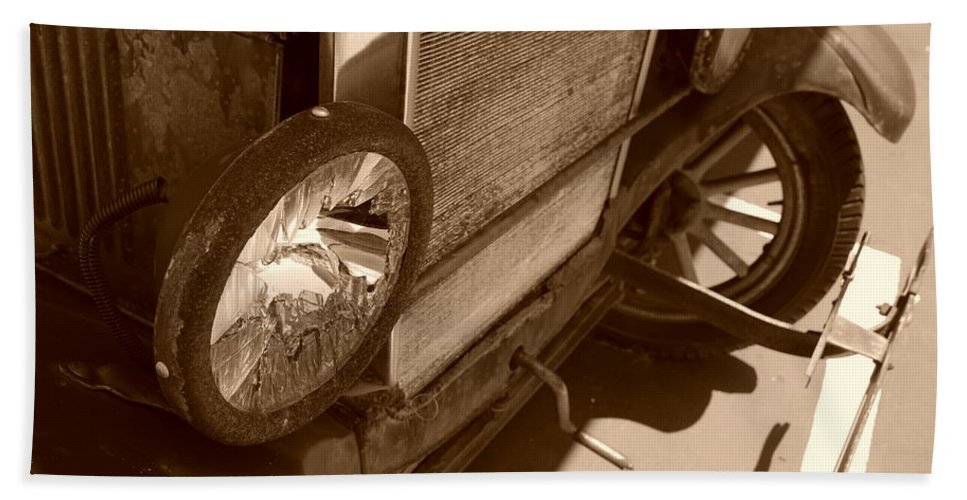 Sepia Beach Towel featuring the photograph 1926 Model T Ford by Rob Hans