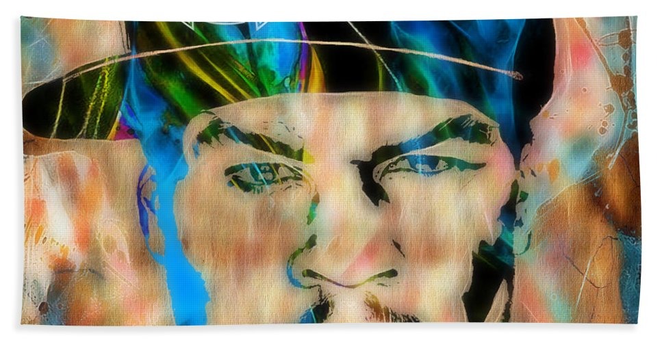 Rap Beach Towel featuring the mixed media 50 Cent Collection by Marvin Blaine