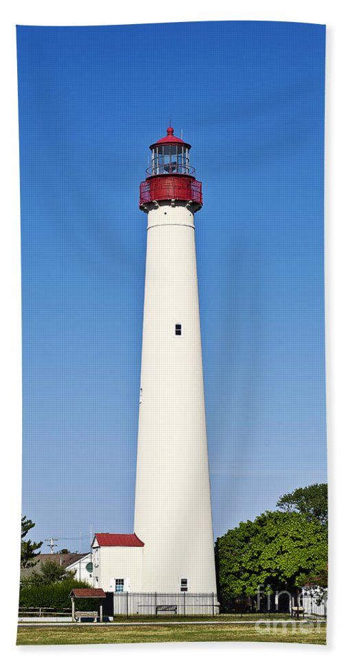 Cape May Beach Towel featuring the photograph Cape May Lighthouse by John Greim