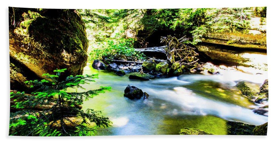 Beach Towel featuring the photograph Diamond Creek Falls by Angus Hooper Iii