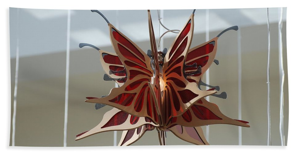 Architecture Beach Towel featuring the photograph Hanging Butterfly by Rob Hans